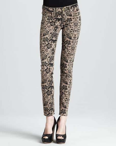 Verdugo Chai Rococo-Print Skinny Jeans