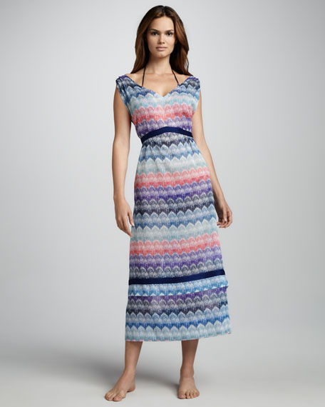 Pizzo Patterned-Knit Coverup Dress