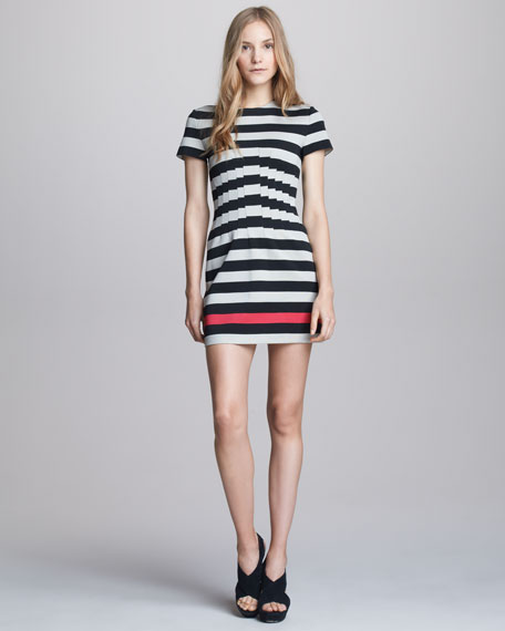 Yazmine Striped Jersey Dress