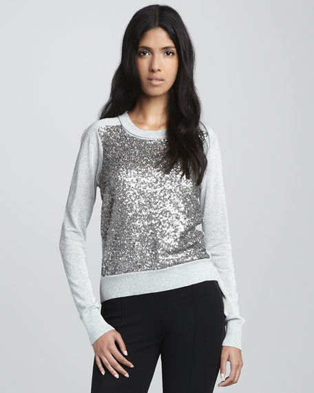 Maryse Sequined Wool Sweater