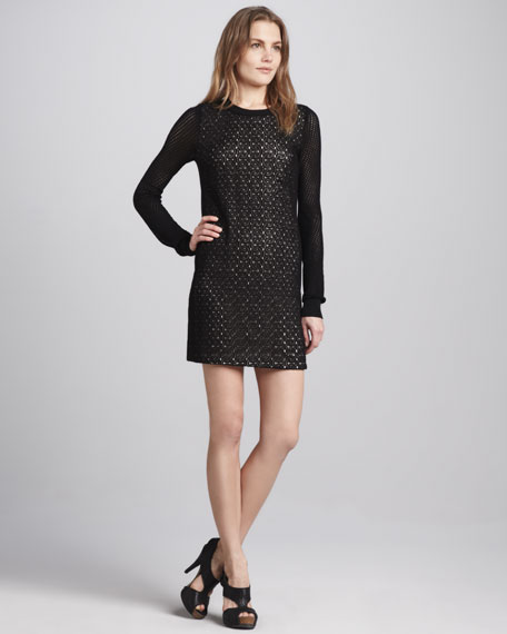 Linot Bis Lace-Overlay Dress
