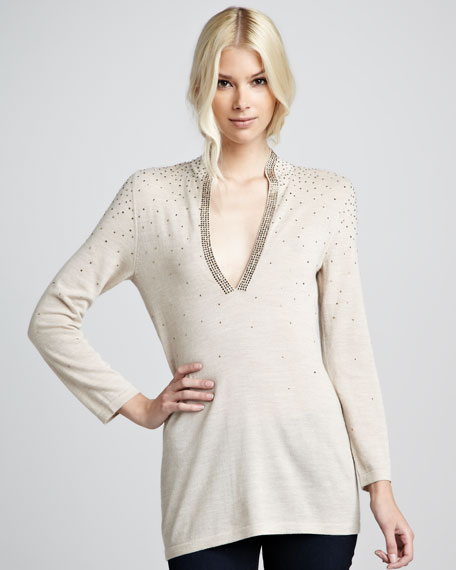 Carly Speckled Tunic, Camel