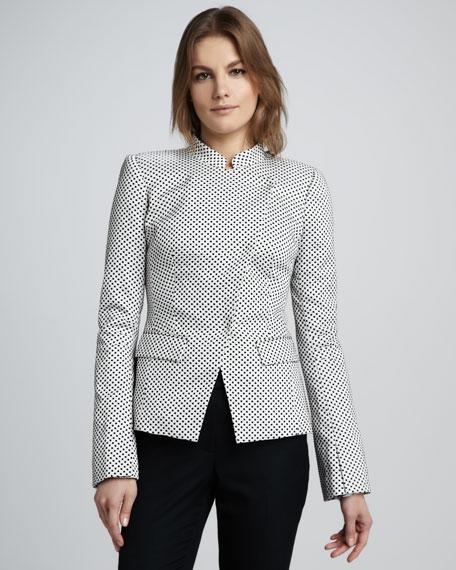 Carine Polka-Dot Jacket