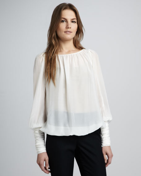 Sabina Silk Top