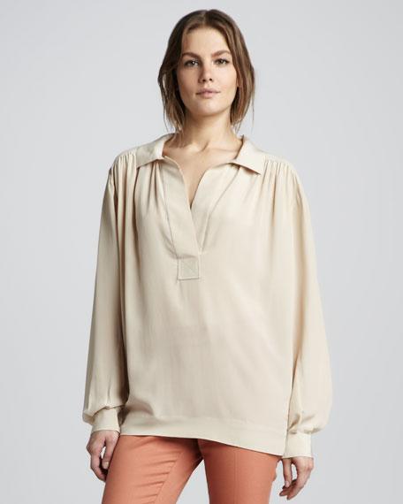 Malin Loose Silk Blouse