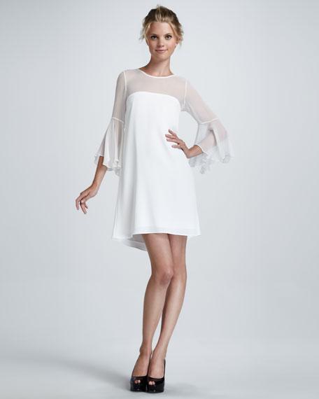 Saige Sheer-Top Dress