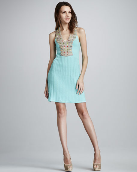 Big Wave Dress, Icy Blue