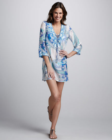 Ortensie Printed Coverup, Pervinca