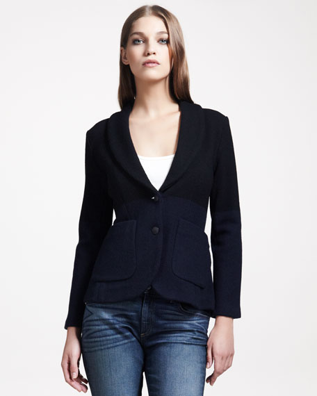 Curtis Colorblock Knit Blazer