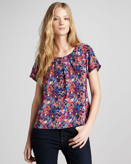 Heston Floral-Print Top