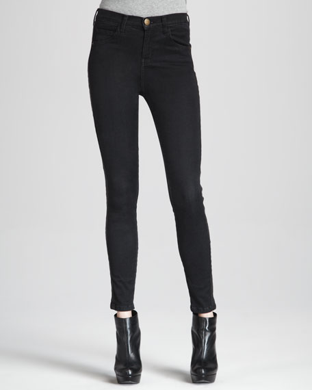 The Rider High-Rise Cropped Jeans