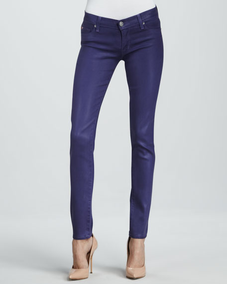 Krista Sugarplum Wax Super Skinny Jeans