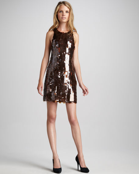 Angie Paillette Shift Dress