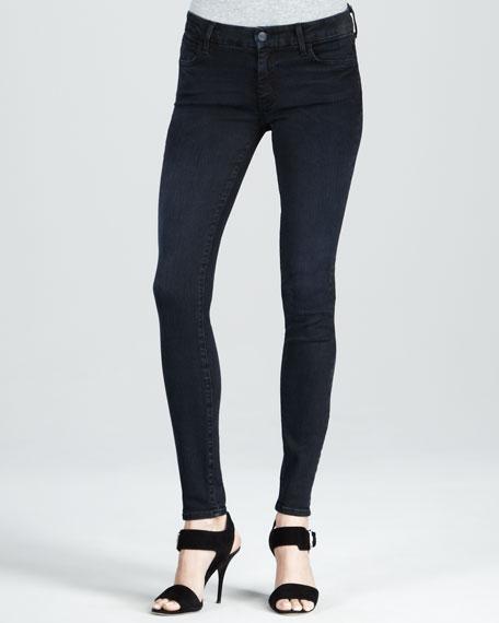 Skinny Worn Black Jeans