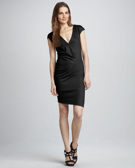 Wool V-Neck Dress