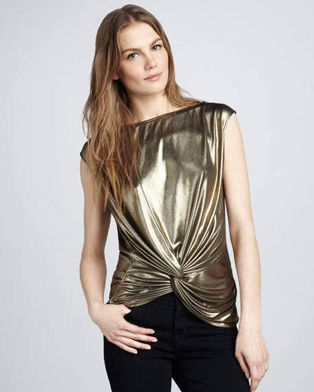 Metallic Jersey Top