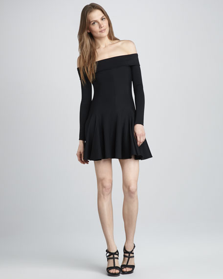 Off-The-Shoulder Dress, Black