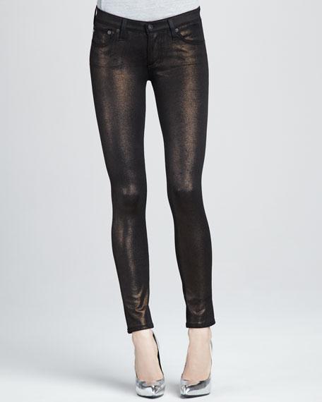 Super Skinny Bronze Knit Leggings