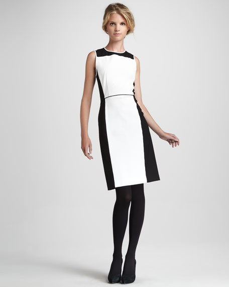 Nyasha Two-Tone Crepe Dress