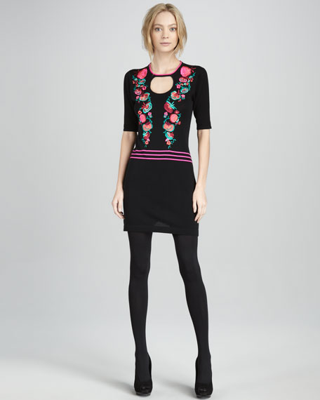 Tea For Two Embroidered Dress