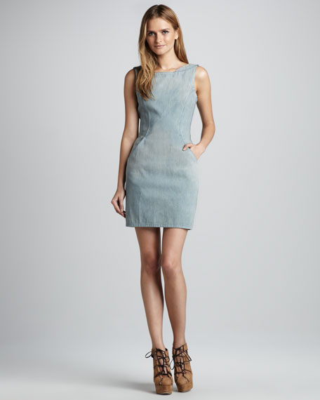 Dither Denim Dress