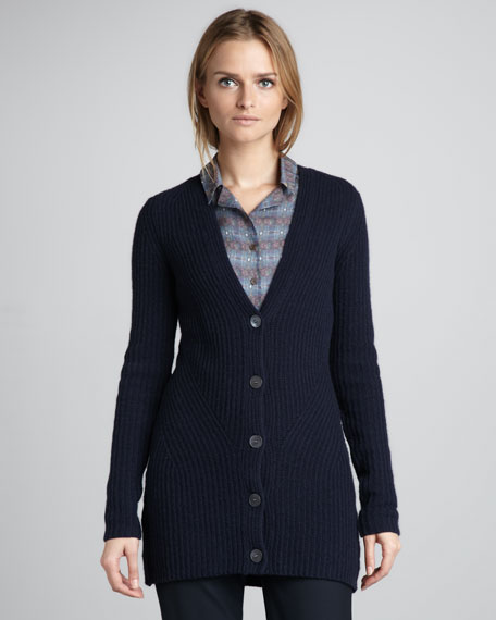 Klamp Ribbed Cardigan