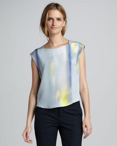 Binta Printed Silk Blouse