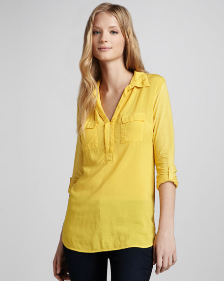 Long Two-Pocket Blouse