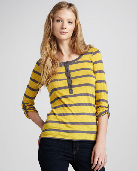Seville Striped Slub Henley
