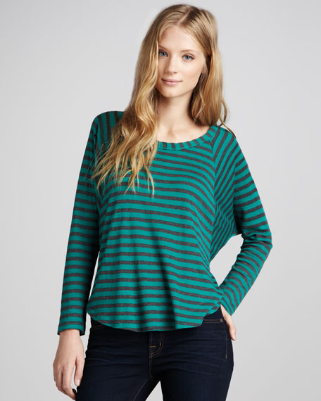 Loose Striped Thermal Tee