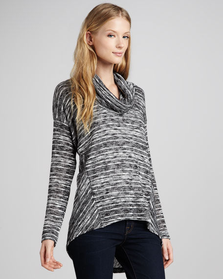 Norwegian Loose Slub Sweater, Pepper