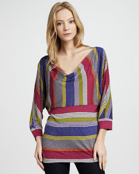 Camden Striped Draped Top