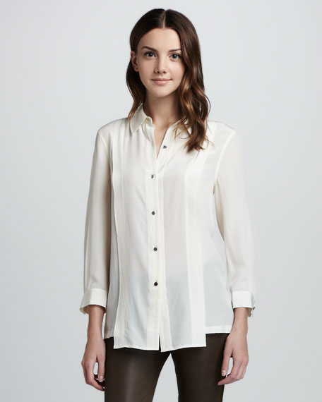 Mariko Loose Silk Blouse