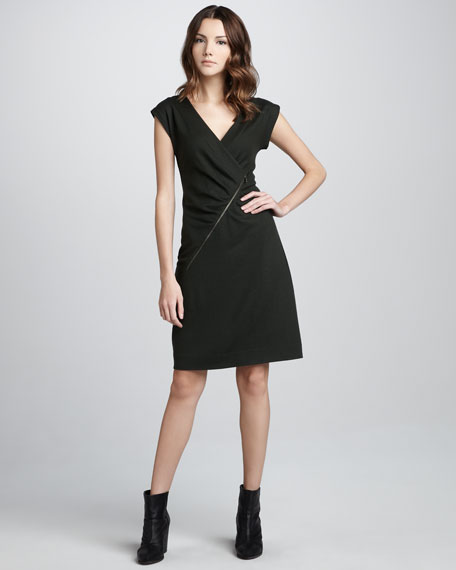 Fiona Asymmetric-Zip Dress