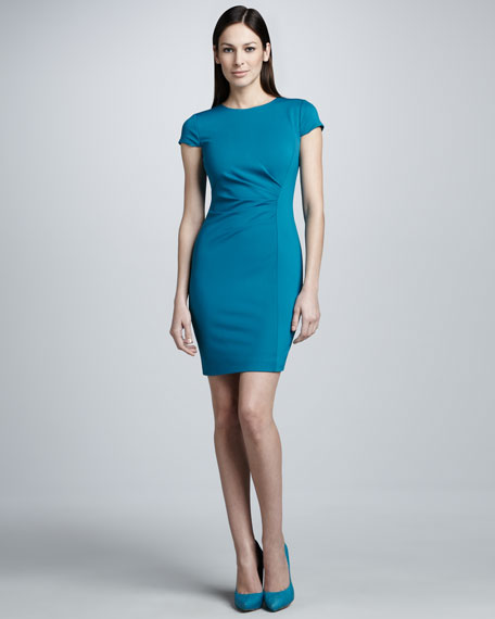 Toni Fold-Neck Dress