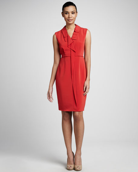 Christa Pleated-Collar Dress