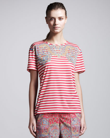 Paisley Striped Tee