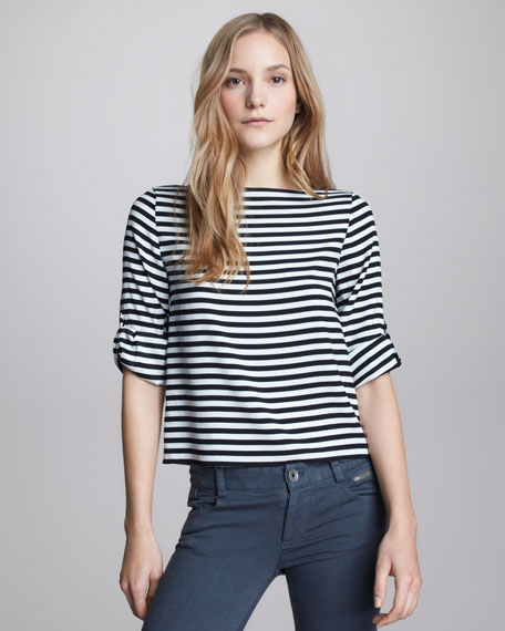 Curtis Striped Boxy Top