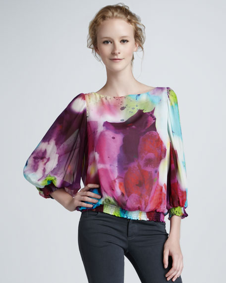 Johanna Watercolor-Print Top