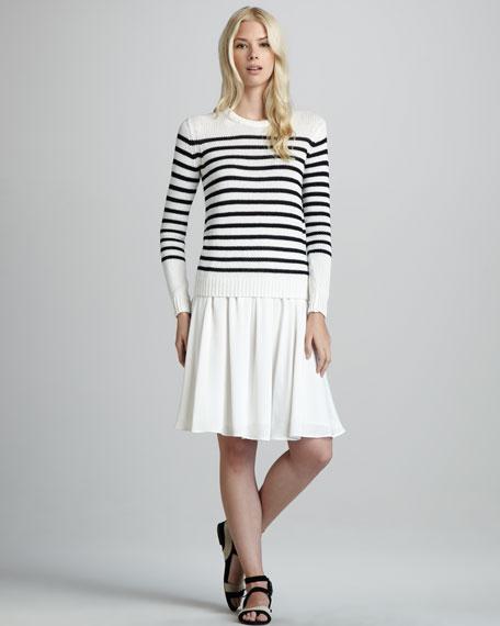 Anca Pleated Silk Skirt