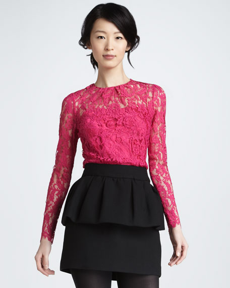 Laurel Peplum-Waist Skirt