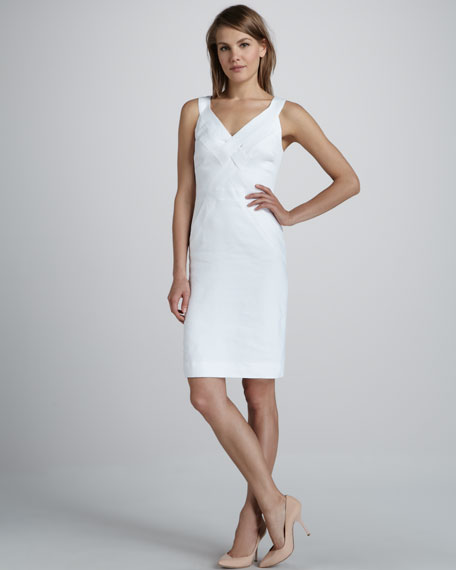 Basket-Weave Poplin Dress