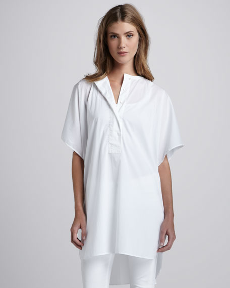 Oversize Short-Sleeve Blouse