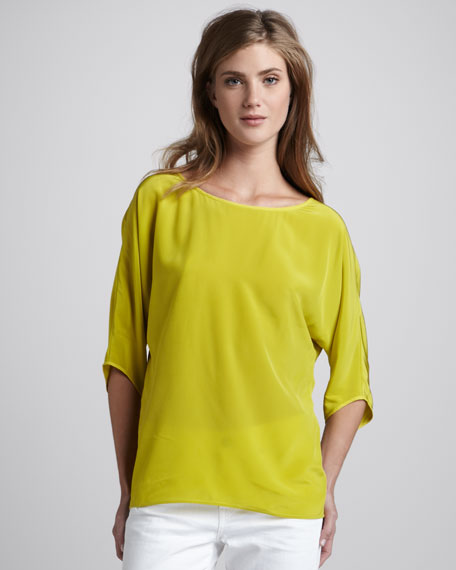 Loose Semisheer Silk Top