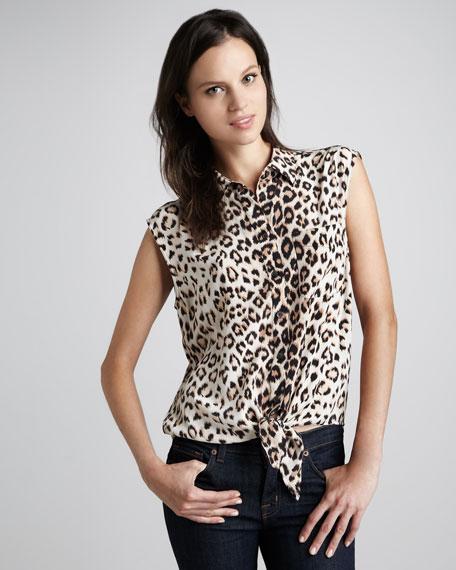 Diem Leopard-Print Blouse