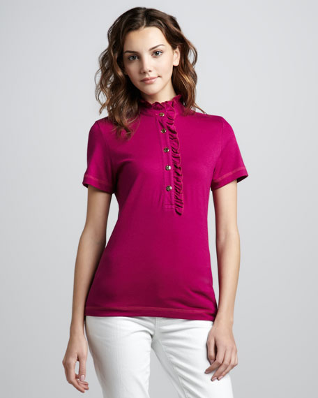 Lidia Ruffled Polo