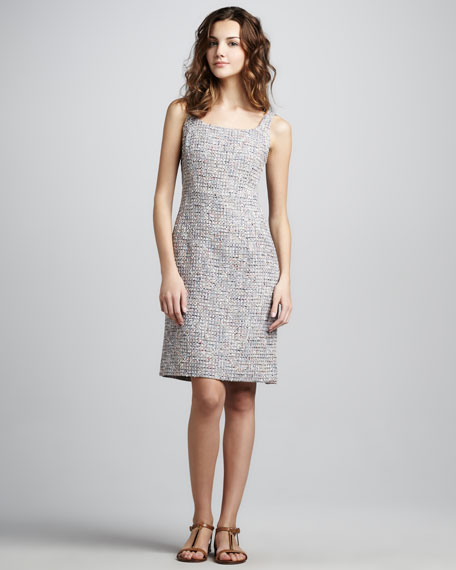 Emma Sleeveless Tweed Dress