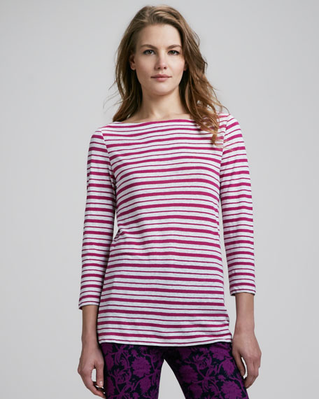 Lori Striped Slub Top