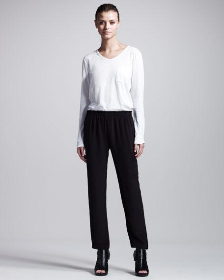 Soledad Silk Cargo Pants