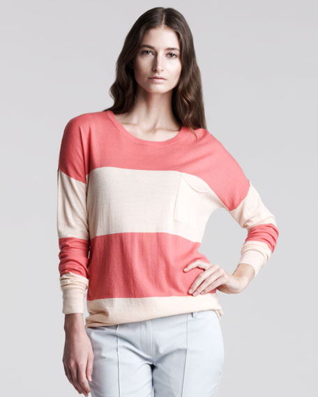 Tollie Wide-Stripe Sweater